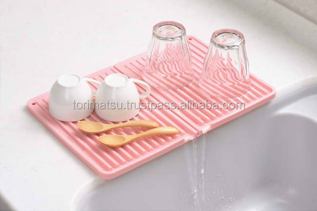 Silicon Body Kitchen Sink Mat For Drain Dishes Home Use Products