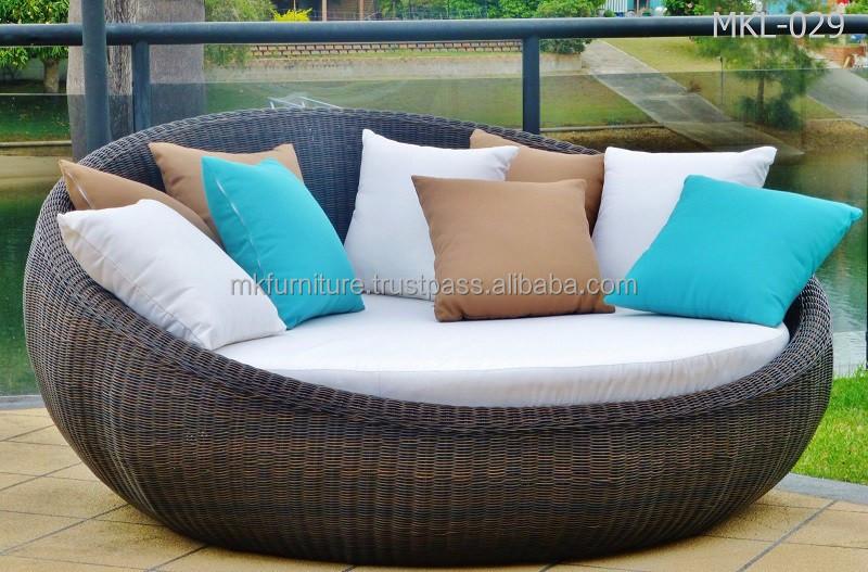 hochwertige korbwaren rattan rund solarium gartenm bel runden sonnenliege sonnenliege produkt. Black Bedroom Furniture Sets. Home Design Ideas