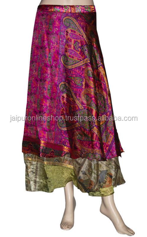 Vintage Silk Double Layer Reversible Sarong Sari Magic