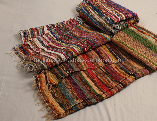 Large Hand Woven Rag Rug In Bulk Outdoor Bedroom Affordable Mats Recycled Dhurrie Chindi Unique Carpets