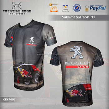 peugeot sports dakar full sublimation t shirt wholesale sublimation latest custom t shirt. Black Bedroom Furniture Sets. Home Design Ideas