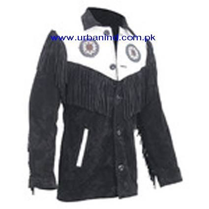 High Quality Suede Leather Jackets With Fringed & Beaded Hand Made Work/Suede Leather Fringe Jackets/Mens Suede Leather Jackets