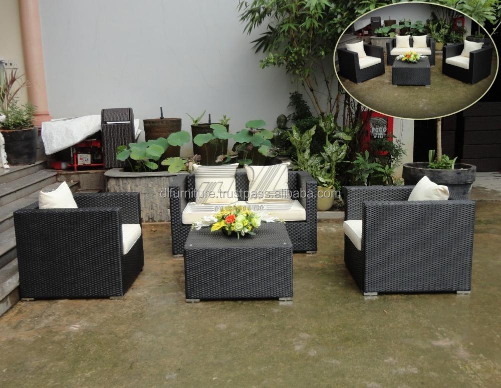 Pe rattan divano set di 4 pz outdoor pe di vimini divano set divano da giardino set rattan - Set divano rattan ...