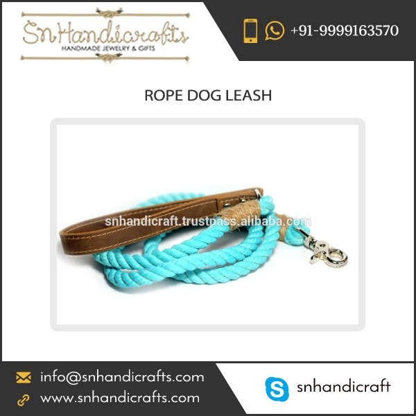 Well Known Manufacturer Supplying Precisely Design Rope Dog Leash at Low Price