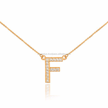 14k rose gold f diamond letter initial double mounted monogram 14k rose gold quotfquot diamond letter initial double mounted monogram necklace mozeypictures Images
