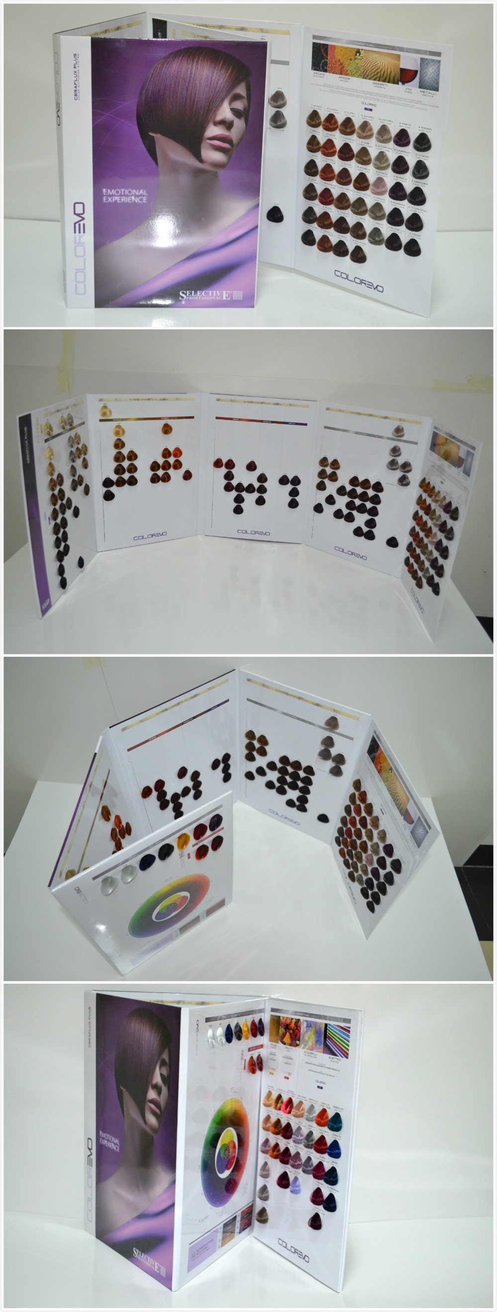 Loreal Hair Color Chart Swatch Book With Hair Fiber For Hair Color