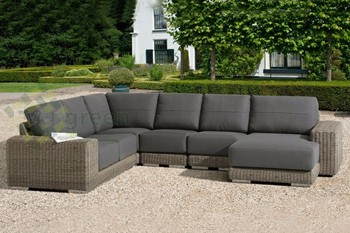 Rattan sofa outdoor  Evergreen Wicker Furniture - Thickness Cushion Outdoor Furniture ...