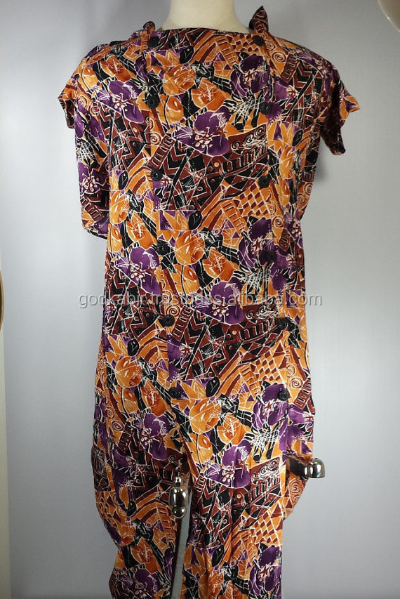 Beautiful printed Vintage West Full Length Printed Dress Orange Purple Brown color printed dress