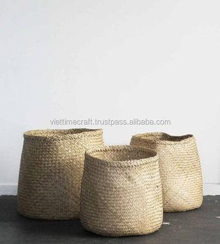 Vietnam Seagrass Basket /seagrass Storage Basket/seagrass Laundry Basket