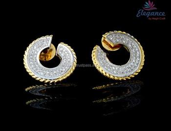Exclusive Diamond Earrings Cz Stone Fancy Earring Imitation Jewellery American