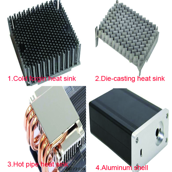 Customized aluminum extrusion CPU cooler heatsink cooler for computer