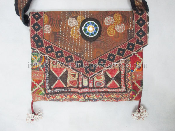 Indian Hand Embroidered Vintage Fabric Banjara Woman Hand Bag ...