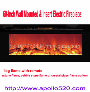 Canada Type 60 Wall Mount Built In Electric Fireplace Black Buy
