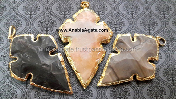 Agate Arrowhead Pendants Design 4 : Wholesale Agate Arrowhead Pendants : Fancy Jasper