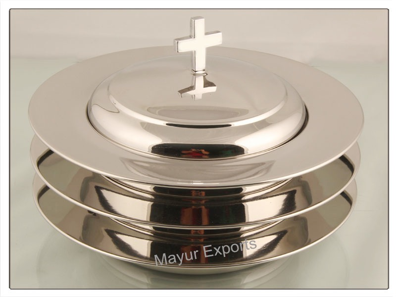 Stainless steel Stacking Bread Plate set