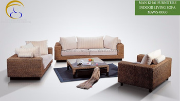 Klasik Indoor Rumah Rotan Malaysia Kayu Sofa Set Furniture Acasia