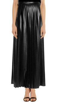 Full Length Pleated Maxi Leather Skirt - Buy Gothic Leather Skirt ...