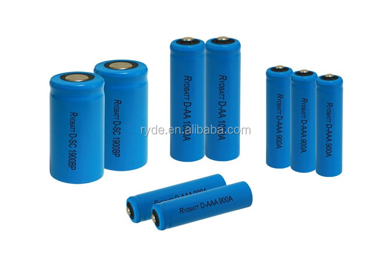 7.2V AA D size 2800mah 5000mah Rydbatt Nickle Cadmium NIcd battery supplier