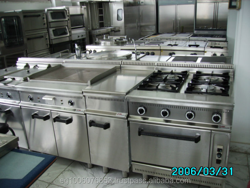 Restaurant Kitchen Gas Stove 8 burners with 2 ovens gas range hotel kitchen equipment