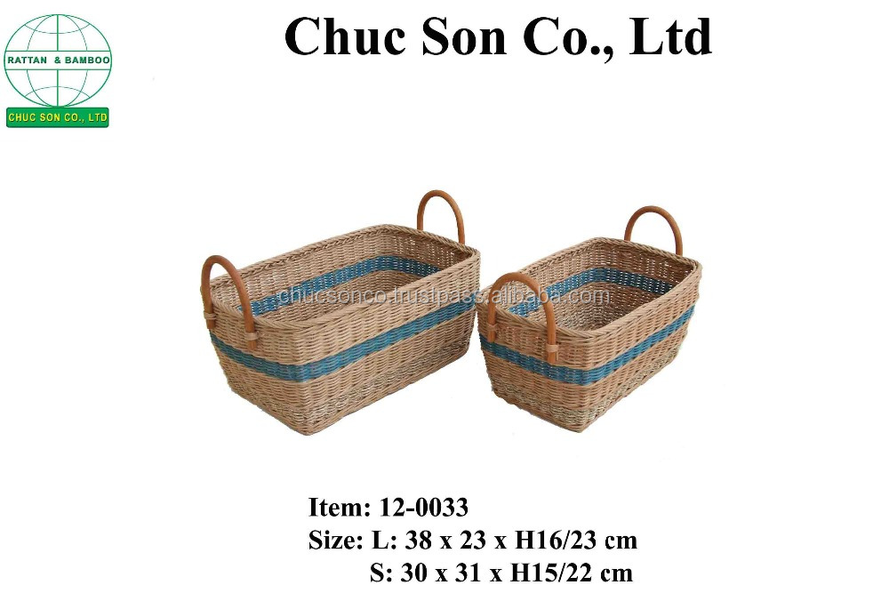Vietnam Handmade Rattan Laundry Basket/rattan grey baskets/colored laundry baskets