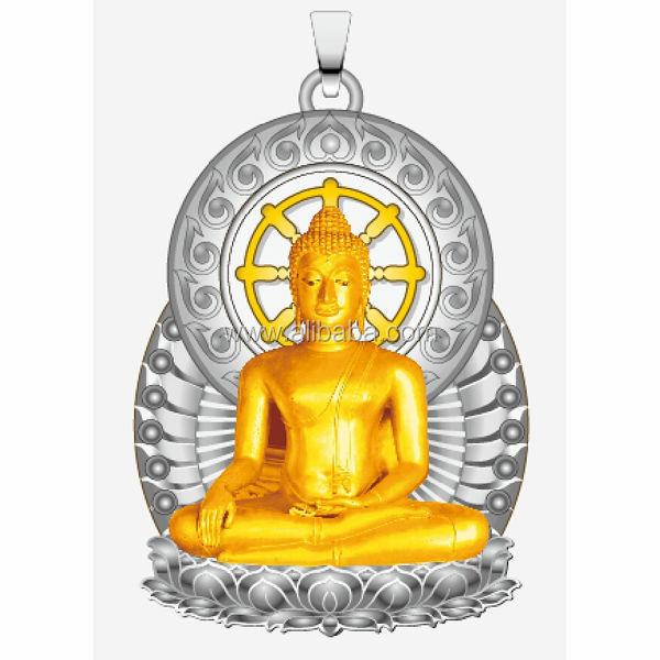 The maitreya buddha pendant gold mode with eternal rotating dharma the maitreya buddha pendant gold mode with eternal rotating dharma chakra pendant aloadofball Gallery