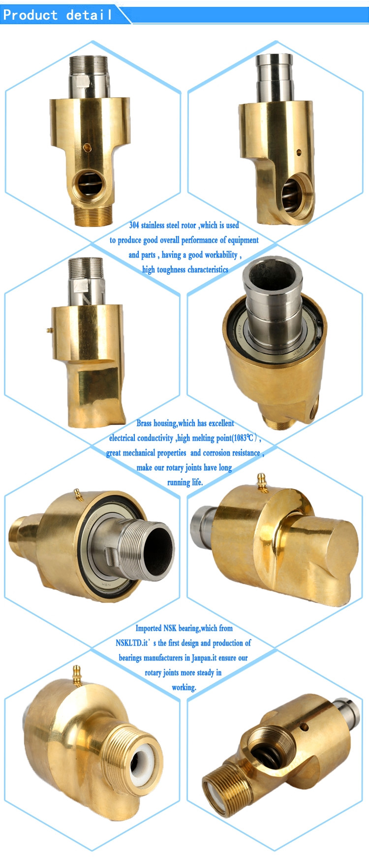 High speed water rotary joints swivel joint union