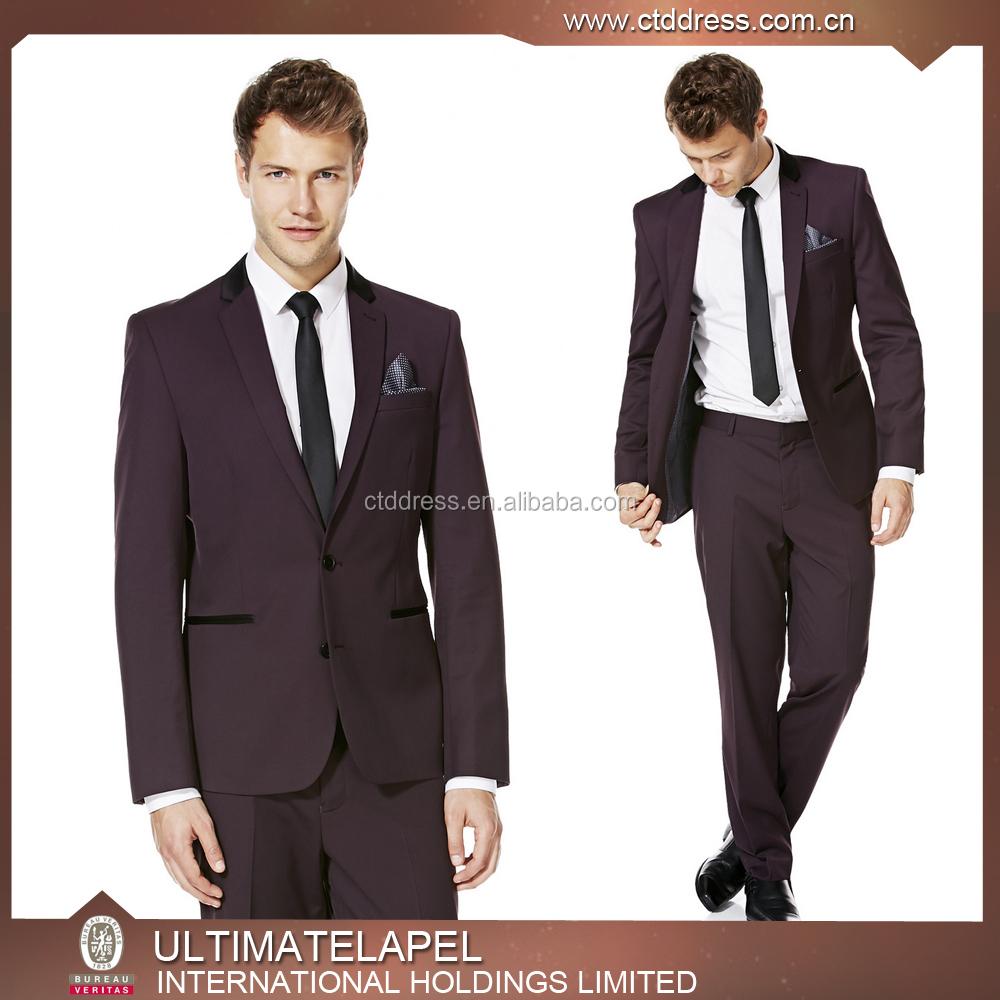 New Stylish Top Brand Coat Pant Men Suit 2015 New Design Buy Men