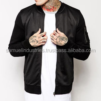 Shearling Bomber Varsity Jacket Mens Black Mesh Bomber Jacket