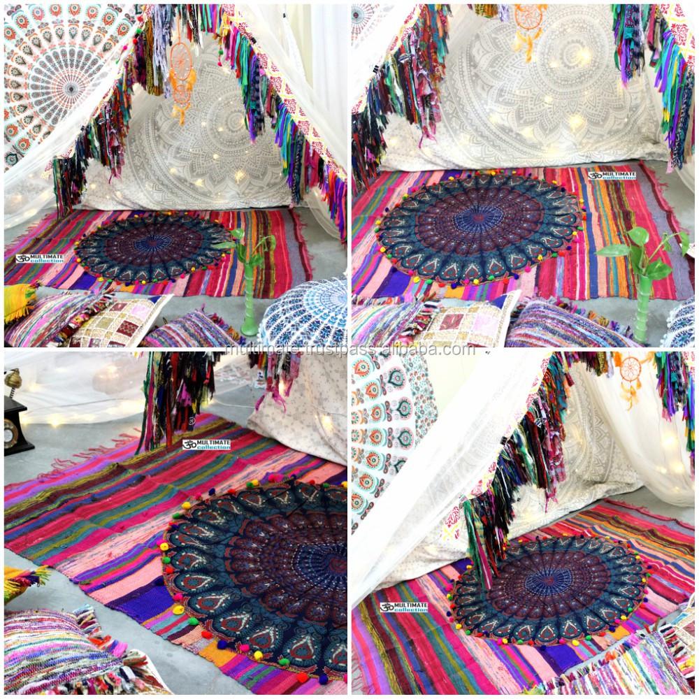 Precio m s bajo alfombras chindi alfombra tnico bohemio - Alfombras precios ...
