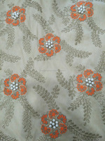 Embroidery Fabric/ Raw Silk Embroidery Fabric / Purl Embroidery Fabric