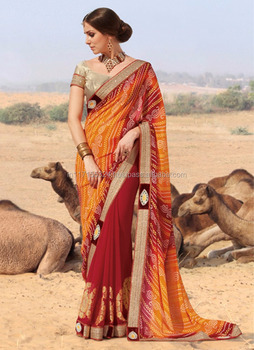 767a8ce347 Bandhani sarees online shopping - Cheap saree wholesale - Fancy saree  blouse designs - Made in