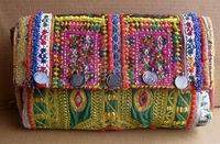 Indian clutch Bags Vintage Clutch Banjara Patchwork Clutch Handmade Mirror Hand Embroidered Purse Bags