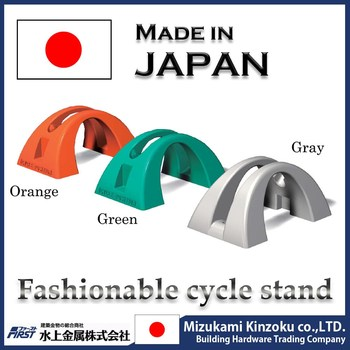 rack for electric bicycle made in Japan with excellent design to prevent from falling down by wind and contact