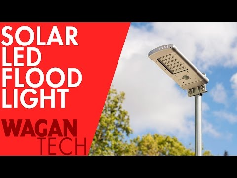 Solar LED Flood Light How-To Install - Pole mounted, Wall Mounted