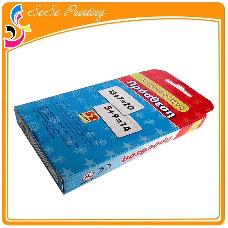 Custom Made Tuck Box For Game Cards,Printing Service Of Children ...