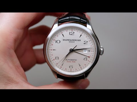 Baume and Mercier Clifton Dual Time Men's Watch Review Model: MOA10112