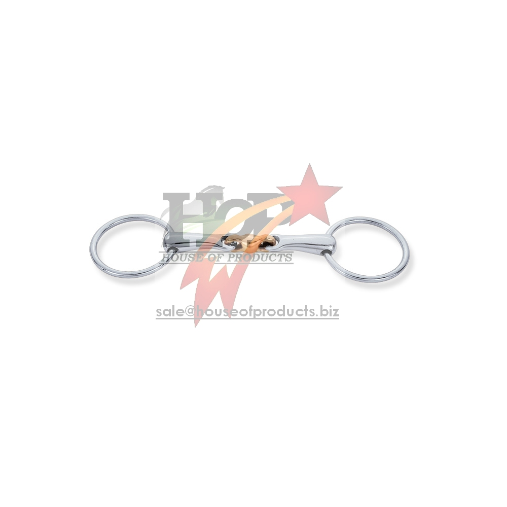 Loose Ring Bit Horse Bits Loose Ring Heavy Training Snaffle Copper Ball Center Join SS