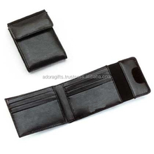 awesome pattern men leather wallet of pocket size