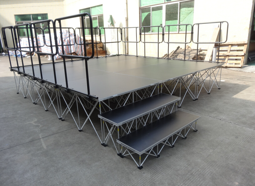 Factory price wedding stage/portable stage/stage platform four leg stage