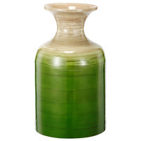 High quality best selling eco friendly Large Ombre Green Color spun bamboo vase in bottle style in Viet Nam