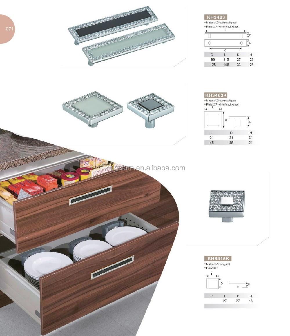 Europäischen Stil Strass Kristall Möbel Tür Fach Stoßgriff Cabinet
