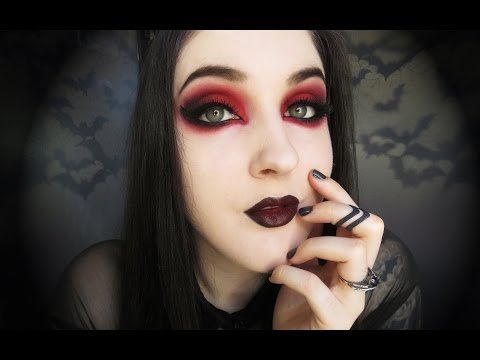 Get Quotations Gothic Vampire Black And Red Makeup Tutorial
