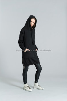 7baba084670be5 NEUES Hoody Sweatshirt Kleid / Sweatshirt Kleid / Schwarzer Hoodie / Schwarzes  Kleid / Zipper Hoody