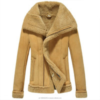 Women Shearling Sheepskin Lined Bomber Jacket