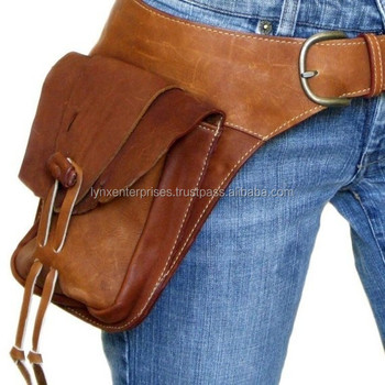 Leather Hip Belt Bag Motorcycle Leg Fashion Military