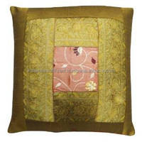 Mustard 38cm Cushion Cover Patchwork Designer Home Decor Pillowcase Gift PL15287