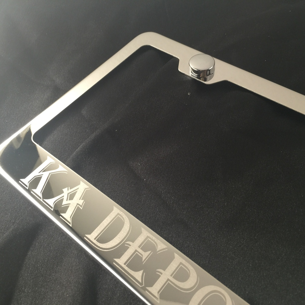 Custom Personalized Polish Stainless Steel Laser Engraved License Plate Frame Holder With Plastic Chrome Cap - Buy Ssf-custom Product on Alibaba.com