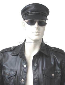 427f9b1c New Men's 100% Real Leather Military Hat /Newsboy Caps / Harley riders ha