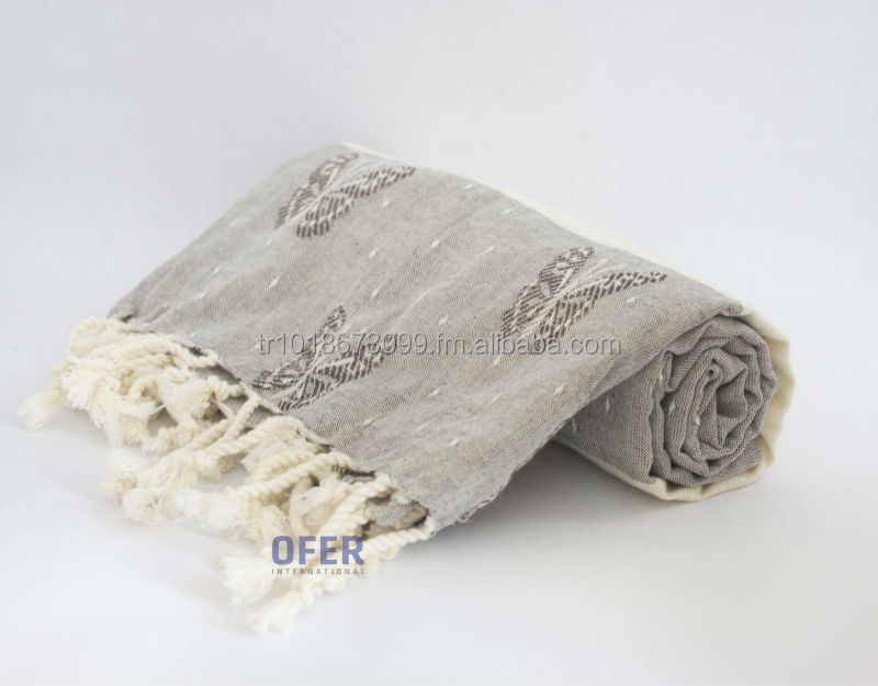 Butterfly - Turkish Peshtemal Towel, Beach, Spa and Bathroom use. Made in Turkey Peshtemal, hammam fouta.