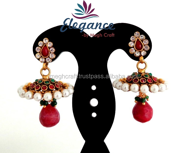 87b72f1db2 Wholesale Indian Ethnic Earring - One Gram Gold Jewelry -south Indian Pearl  Jhumka Earrings-imitation Jewellery - Buy One Gram Gold Earrings Designs  Jewelry ...